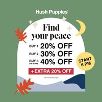 Hush Puppies Discount Up To 40% Off + Extra 20% Off