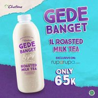 Promo Chatime Roasted Milk Tea 1L Cuma Rp. 65.000