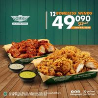 Promo Wingstop 12 Boneless Wings Cuma Rp. 49.090
