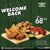 Promo Wingstop Welcome Back Package Only For Rp. 68.182