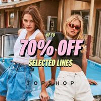 Promo Top Shop Discount Up To 70% Off For Selected Lines