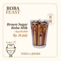 Promo Tous Les Jours Special Value Of Brown Sugar Boba Milk Only For IDR. 19.000