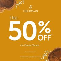 Promo Obermain Discount 50% Off On Dress Shoes & Free Wallet For Every Shoes Purchase