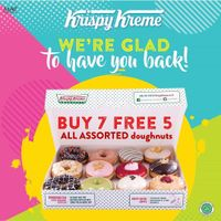 Promo Krispy Kreme Buy 7 Get 5 Free All Assorted Doughnuts