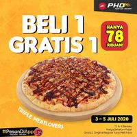 Promo PHD Beli 1 Gratis 1 - Beli 1 Pizza Triple Meatlovers Gratis 1 Regular Pizza Tuna Melt