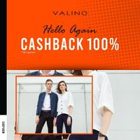 Promo Valino New Normal Cashback 100%
