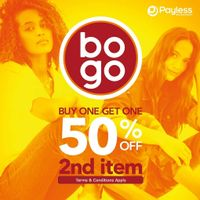 Promo Payless Buy 1 Get 1 50% Off For Second Item