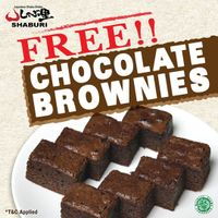 Promo Shaburi Free Chocolate Brownies For Every Purchase Of Delivery Menu