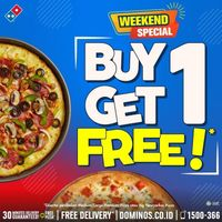 Promo Weekend Special Domino's Pizza Buy 1 Get 1 Free Pizza