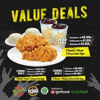 Promo Texas Chicken Value Deals Combo Package Start From Rp. 40.909