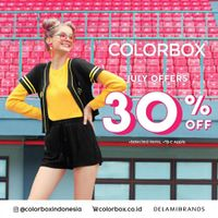 Promo Colorbox July Offers Discount 30% Off
