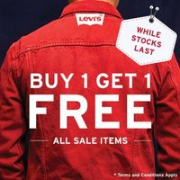 Promo Levis Buy 1 Get 1 Free For All Sales Items