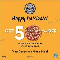 Promo Pizza Marzano Happy Payday Get Discount 50% Off For All Pizza