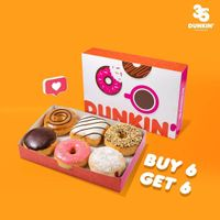 Promo Dunkin Donuts Buy 6 Get 6 Free Donuts