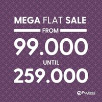 Promo Payless Mega Flat Sale Start From IDR. 99.000 - 259.000