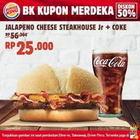 Promo Burger King Kupon Merdeka Diskon 50% Untuk Menu Favorit