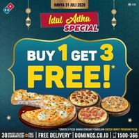 Domino's Pizza Promo Gratis 3 Pizza Mania