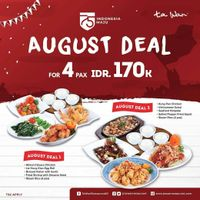 Promo Ta Wan Restaurant August Deal For 4 Pax Only IDR. 170.000
