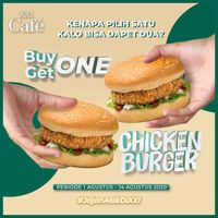 Promo XXI Cafe Buy 1 Get 1 Free Chicken Burger