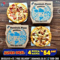 Promo Domino's Pizza Super Deal 4 Pizza Mania Rp. 54.545