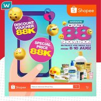 Promo Watsons Crazy 8.8 Shopathon