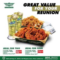 Wingstop Promo Paket Meal for Two dan Meal for Four