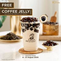 Promo Koi Free Coffee Jelly Topping For Every Purchase Selected Medium Size Drinks