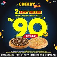 Promo Domino's Pizza 2 Best Seller Pizza Hanya Rp. 90.000