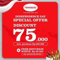 Havaianas Independence Day Special Offer Discount Rp 75.000