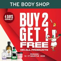 The Body Shop Promo Buy 2 Get 1 Free