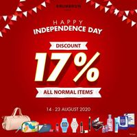 Brun Brun Happy Independence Day Diskon 17% On All Normal Items