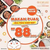 Onokabe Promo Happy Hour All you can eat cuma Rp. 88.000+