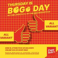 Paparons Pizza Promo Bogo Day