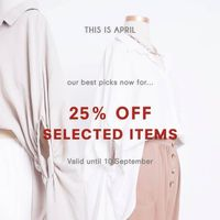 This Is April Discount 25% Off On Selected Items