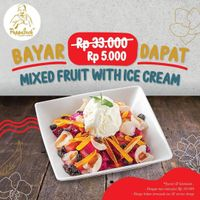Pappajack Promo Mixed Fruit with Ice Cream Rp. 50.000