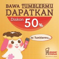 Mister Donut Discount 50% Off For Bringing Tumblr