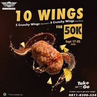 Promo Wingstop 10 Crunchy Wings Take & Go Only For Rp. 50.000