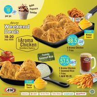 A&W Restaurant Awesome Weekend Deals