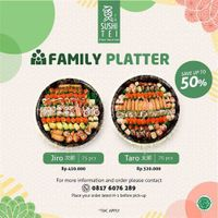 Sushi Tei Promo Family Platter Save Up to 50%