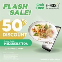 Bakerzin Flash Sale 50% Off On GrabFood