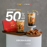 Xi Bo Ba Promo Xiji x Xi Bo Ba x GrabFood Party 50% Off