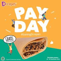 DCrepes Payday Promo Gratis Choco Peanut