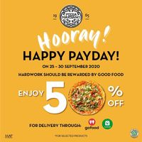 Pizza Marzano Promo Hooray Happy Payday - Discount 50% Off For Selected Products